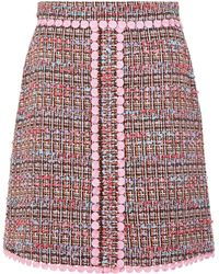 Boutique Moschino - Tweed Mini Skirt - Lyst