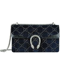 5bea935de4f Lyst - Gucci Dionysus GG Velvet Shoulder Bag