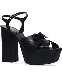 Saint Laurent - Farrah Bow Sandals - Lyst