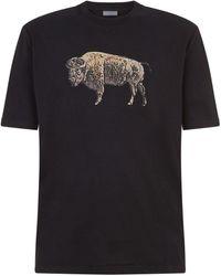 Lanvin - Bull Print T-shirt - Lyst