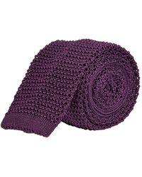 Ralph Lauren Purple Label Superknit Tie - Purple