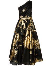 Marchesa - Metallic Organza Gown - Lyst