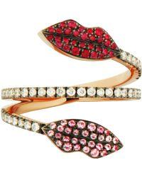 Delfina Delettrez - Marry Me Ruby Double Lips Ring - Lyst