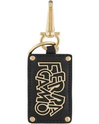Ferragamo - Logo Luggage Tag Bag Charm - Lyst