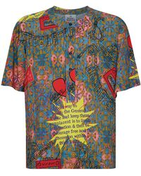 9d0cd8691efea Lyst - Dolce & Gabbana Card Suit Print Shirt in Black for Men