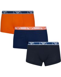 Emporio Armani - Stretch Cotton Trunks (pack Of 3) - Lyst