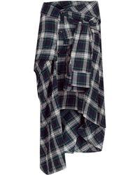 Faith Connexion - Check Shirt Skirt - Lyst
