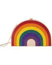 44e47096d8 Judith Leiber - Rainbow Shimmer Clutch - Lyst