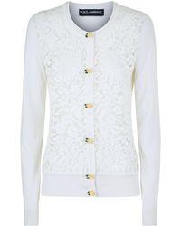 Dolce & Gabbana - Lace Panel Cardigan - Lyst