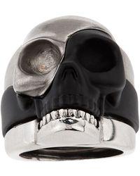 Alexander McQueen - Divided Skull Ring - Lyst