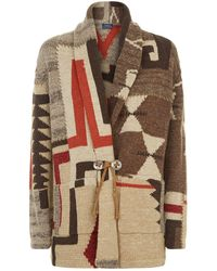 Polo Ralph Lauren - Knitted Patchwork Cardigan - Lyst