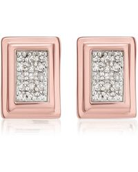 Monica Vinader - Baja Deco Diamond Stud Earrings - Lyst