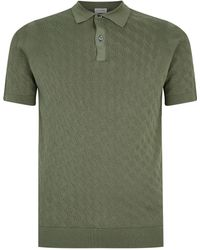 John Smedley - Knitted Polo Shirt - Lyst