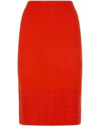 St. John - Caris Knit Pencil Skirt - Lyst