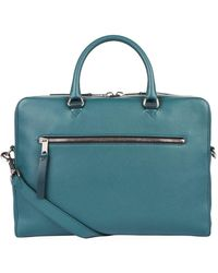 Burberry - Grained Leather Briefcase - Lyst