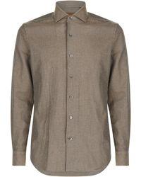 Corneliani - Diagonal Twill Cotton Shirt - Lyst