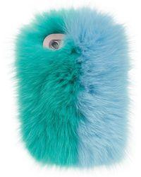 Charlotte Simone - Fox Fur Iphone Case, Green, One Size - Lyst