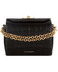 Alexander McQueen - Crocodile Box Bag 19 - Lyst