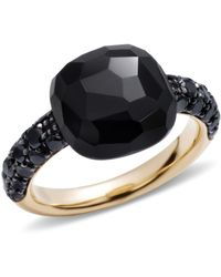 Pomellato - Onyx Rose Gold Capri Ring - Lyst