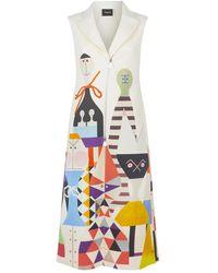 Akris Wool Wooden Doll Jacket