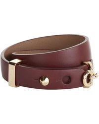 Ferragamo - Ganchini Double Wrap Bracelet - Lyst