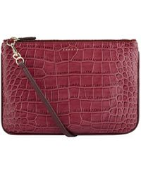 Sandro - Croc Embossed Cross Body Bag - Lyst
