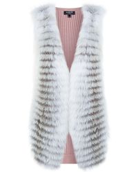 Harrods - Fox Front Knitted Gilet - Lyst