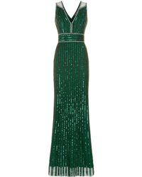 Jenny Packham - Bei Sequin Embellished Gown - Lyst