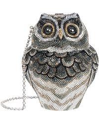 Judith Leiber - Crystal Owl Minaudire Clutch - Lyst
