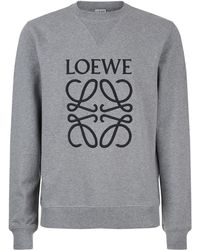 Loewe - Embroidered Sweatshirt - Lyst
