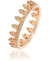 Annoushka - Brown Diamond Rose Gold Crown Ring - Lyst