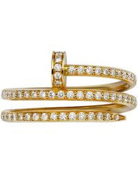Cartier - Yellow Gold And Pav Diamond Double Juste Un Clou Ring - Lyst