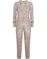 Needle & Thread - Tiled Sequin Jumpsuit - Lyst