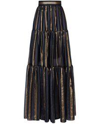 Peter Pilotto - Tiered Stripe Maxi Skirt - Lyst