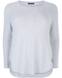 Eileen Fisher - Organic Linen Striped Jumper - Lyst
