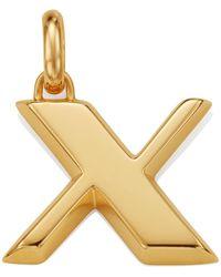 Monica Vinader - Gold Capital X Pendant - Lyst