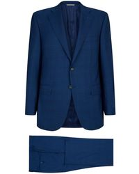 Canali - Wool Check Two-piece Suit - Lyst