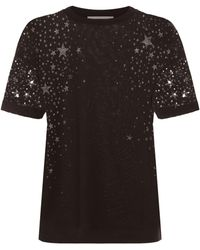 Stella McCartney - Black Star Burnout T-shirt - Lyst