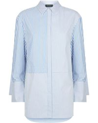 St. John - Oversized Stripe Shirt - Lyst