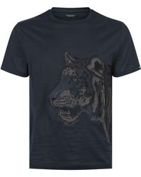 Stefano Ricci - Embroidered Tiger T-shirt - Lyst