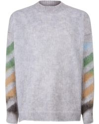 Off-White c/o Virgil Abloh - Stencil Spray Sweater - Lyst