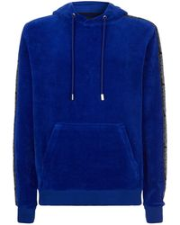 Blood Brother - Logo Tape Velour Hoody - Lyst