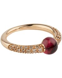 Pomellato - Rose Gold, Garnet And Diamond M'ama Non M'ama Ring - Lyst