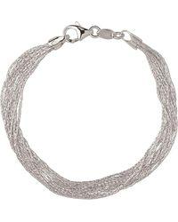 Links of London - Sterling Silver Essentials Silk 10 Row Bracelet - Lyst