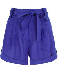 120% Lino - Linen Shorts - Lyst