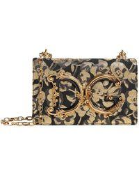 fe99c4bda18b Lyst - Dolce   Gabbana Glam Floral Printed-Brocade Shoulder Bag in Pink
