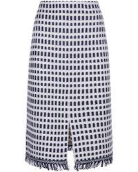 St. John - Fringe Skirt - Lyst