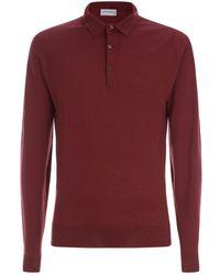 John Smedley - Fine Knit Polo Sweater - Lyst