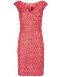 St. John - Knitted Midi Dress - Lyst