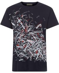 Burberry - Doodle Logo Print T-shirt - Lyst